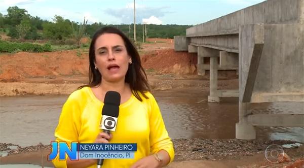 Jornal Nacional | Obra de ponte que dá acesso a município do PI nunca foi concluída