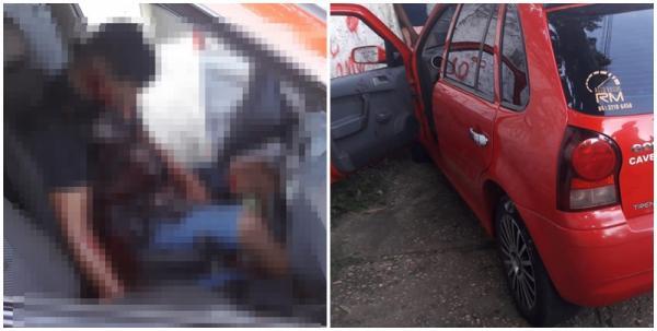 Câmera flagra homem sendo executado dentro de veículo em Teresina